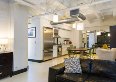Lofts At Hollywood And Vine - Evelyn Ginossi - living area to kitchen